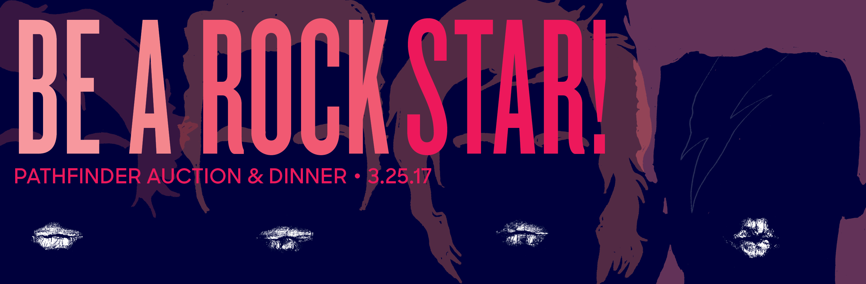 """Be a Rock Star"" Auction Theme Banner"