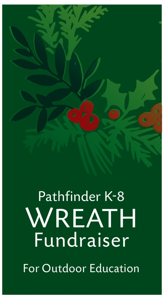 PathfinderK8 Wreath Fundraiser for Education Image of graphic of wreath plus text